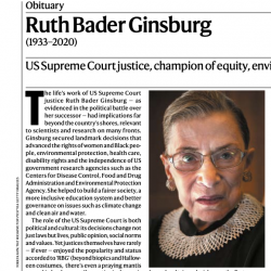 Read now at: Obituary: Prof Sarah Franklin on Ruth Bader Ginsburg (1933–2020)